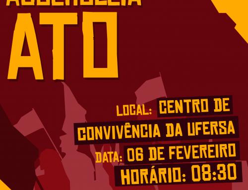 Seção Sindical da UFERSA promove assembleia ato nesta quarta-feira