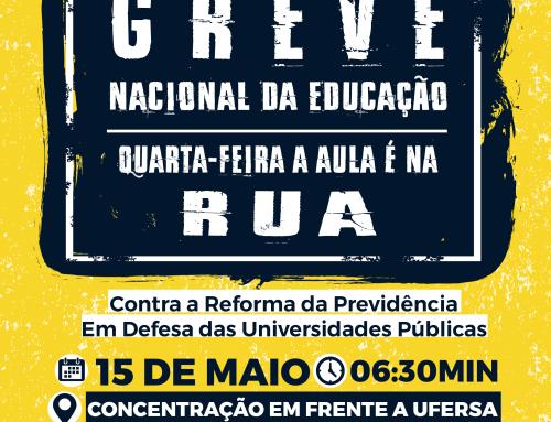 Servidores da UFERSA promovem ato em defesa da educação nesta quarta-feira, 15 de maio