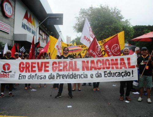 Milhares de trabalhadores foram as ruas contra a Reforma da Previdência