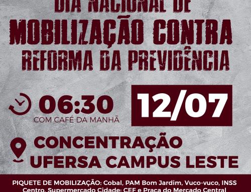 Servidores da UFERSA aprovam mobilização contra a reforma da previdência