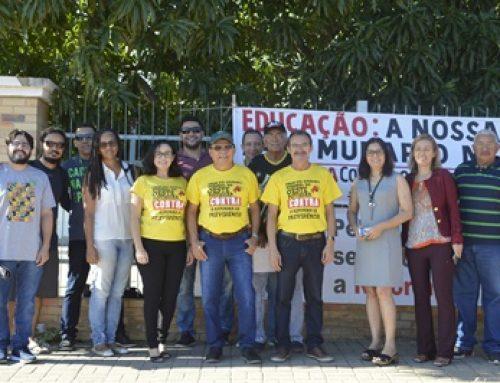 SINTEST e Fórum dos Servidores realizam mobilização contra a Reforma da Previdência