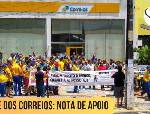NOTA DE APOIO E SOLIDARIEDADE A GREVE DOS TRABALHADORES DOS CORREIOS