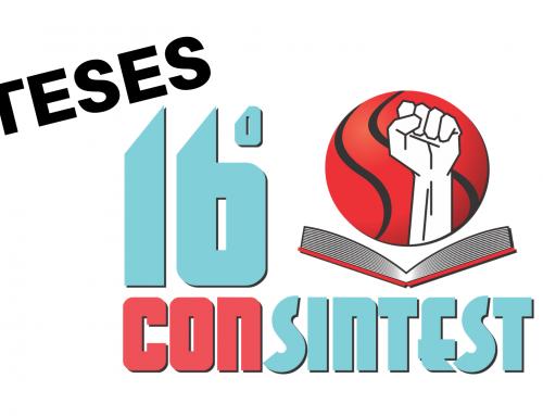 Teses do XVI Consintest já estão disponíveis