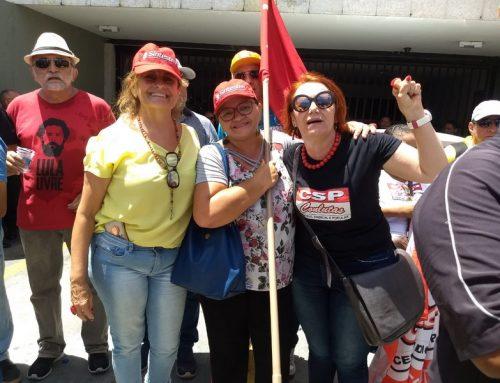 SINTEST participa de ato de repúdio a Rogério Marinho