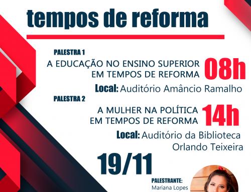 """""""Brasil em tempos de reforma"""" é tema de palestras promovidas pelo SINTEST/UFERSA"""