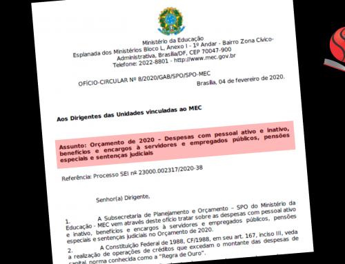 MEC determina congelamento de despesas com pessoal (ativo e inativo) de servidores das universidades