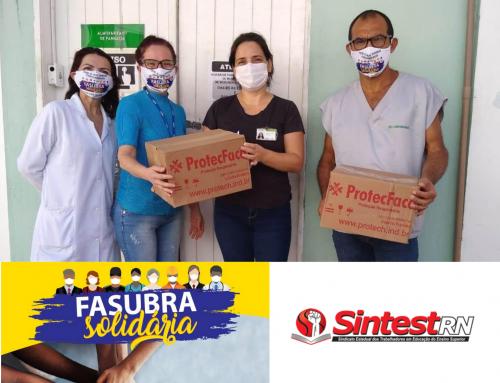 Hospitais universitários da UFRN recebem doação em parceria com a Fasubra e Sintest