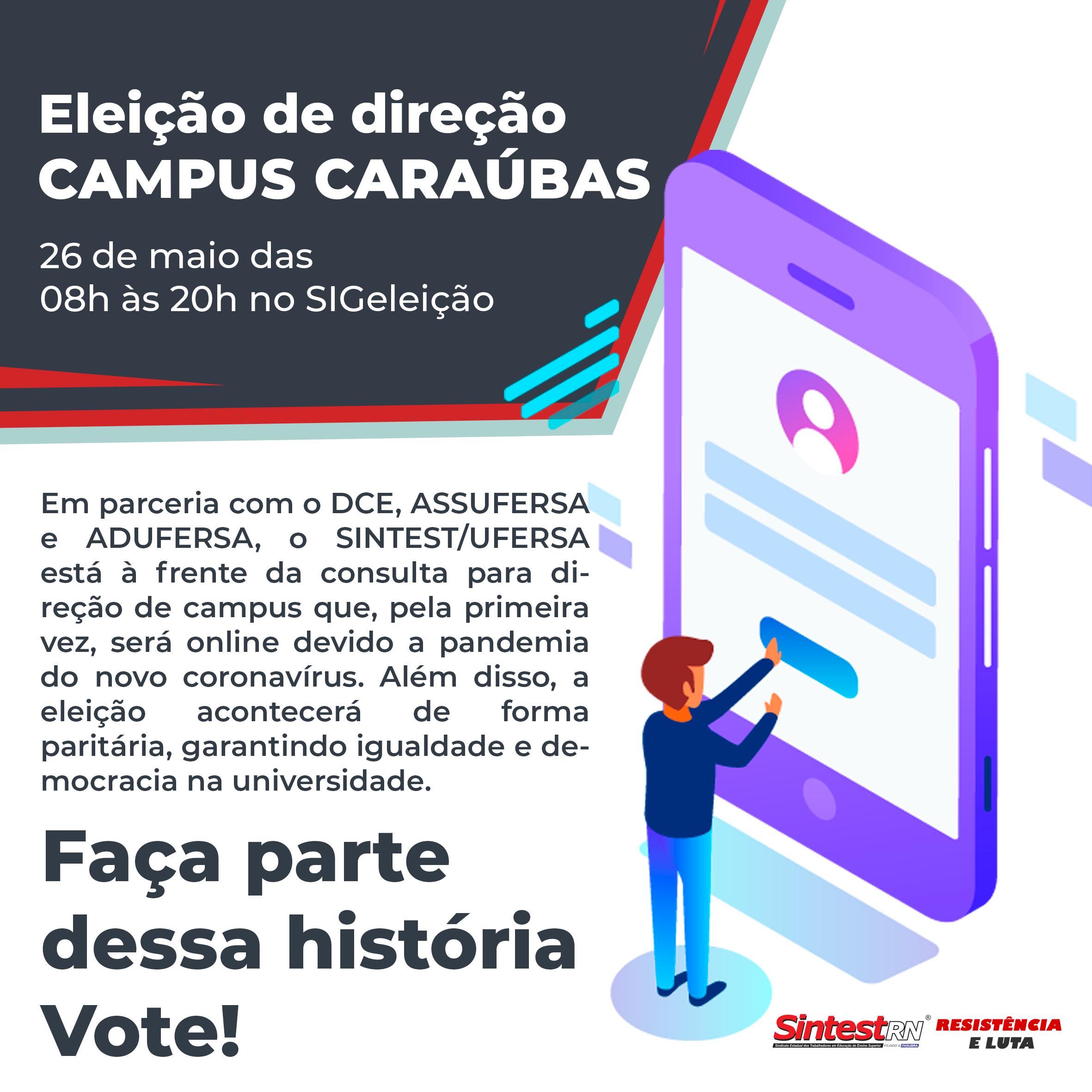 Comissão eleitoral divulga lista de aptos a votar na consulta para o cargo de Diretor(a) e Vice-diretor(a) do campus Caraúbas