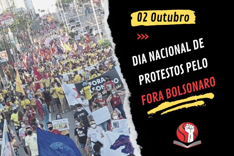 2 de outubro será novo dia nacional de protestos pelo Fora Bolsonaro